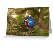 santa clause christmas tree ornament Greeting Card