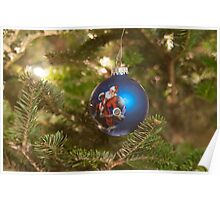 santa clause christmas tree ornament Poster