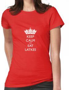 Keep Calm and Eat Latkes Hanukah Shirt Womens Fitted T-Shirt