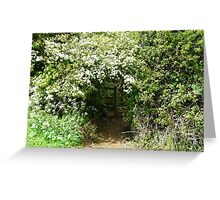 English Countryside Gate  Greeting Card