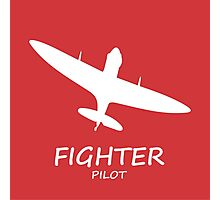 Red Fighter Pilot Photographic Print