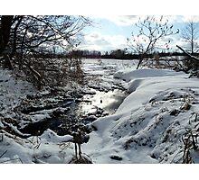 Snowy Winter Stream  Photographic Print
