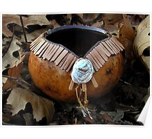 Leather Toothed Gourd Bowl Poster