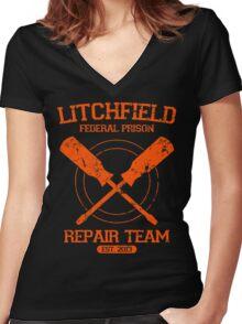 Litchfield Repair Team Women's Fitted V-Neck T-Shirt