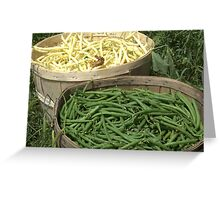 Freshly Picked Beans  Greeting Card