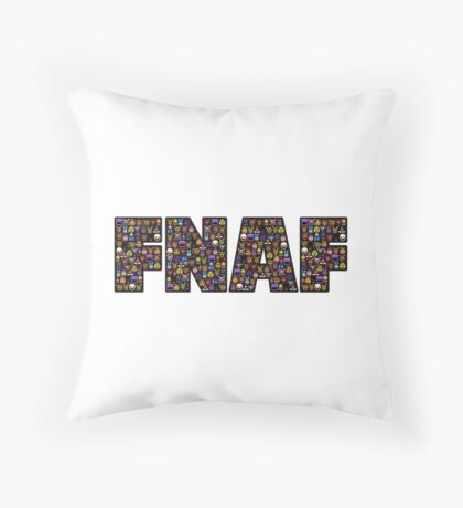 Five Nights at Freddys - Pixel art - FNAF typography (Black BG) Throw Pillow