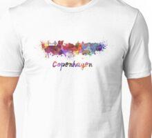 Copenhagen skyline in watercolor Unisex T-Shirt