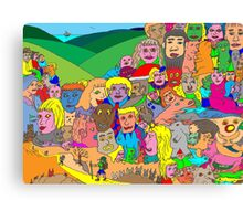 Peoplescape Canvas Print