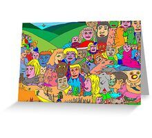 Peoplescape Greeting Card