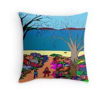 Gnomonic Landscape Throw Pillow