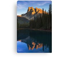 Sunset over Emerald Lake Canvas Print