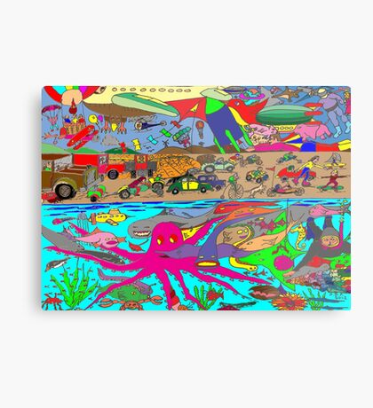 Air, Land and Sea Metal Print