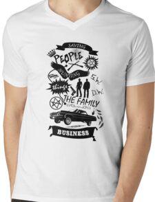 Fam Business Mens V-Neck T-Shirt