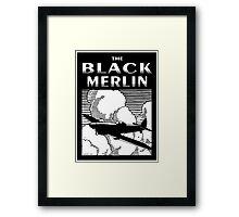 The Black Merlin Spitfire Framed Print
