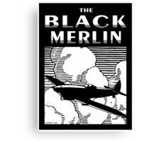 The Black Merlin Spitfire Canvas Print