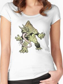 """CACTUS TUNG Monster """"Shirts, Sweaters and Hoodies"""" Women's Fitted Scoop T-Shirt"""
