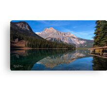 Emerald Lake Jetty Canvas Print