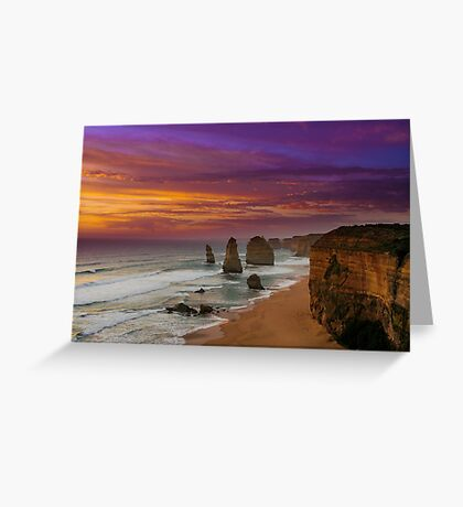 The Apostles at Sunset Greeting Card