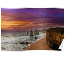 The Apostles at Sunset Poster