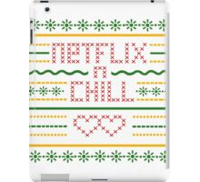 Netflix and Chill Ugly Sweater Vintage Style (Summer) iPad Case/Skin
