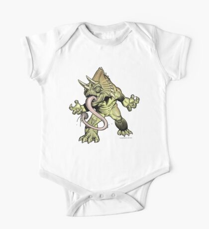 """CACTUS TUNG Monster """"Kids Colthing"""" One Piece - Short Sleeve"""