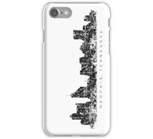 Memphis, Tennessee Skyline Vintage Black iPhone Case/Skin