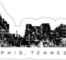Memphis, Tennessee Skyline Vintage Black Sticker