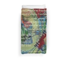 And Now I'll Look Away Poetry Greeting Duvet Cover