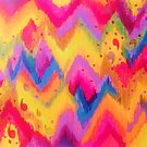 BOLD QUOTATION - Bright Vibrant Neon Quote Chevron Pattern Ikat Rainbow Trendy Design Fun Art by EbiEmporium