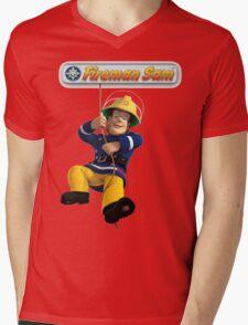Fireman Sam Mens V-Neck T-Shirt