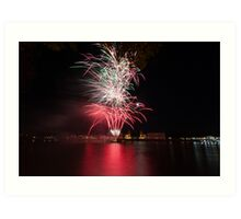 Fireworks over Greenwich Art Print