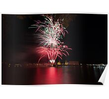 Fireworks over Greenwich Poster