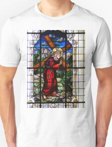 Jesus Carries The Cross - Stained Glass In Cartago T-Shirt