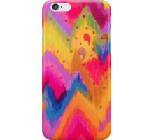 BOLD QUOTATION - Bright Vibrant Neon Quote Chevron Pattern Ikat Rainbow Trendy Design Fun Art iPhone Case/Skin