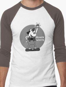 Black and White Men's Baseball ¾ T-Shirt
