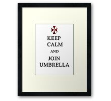 Keep Calm and Join Umbrella Framed Print