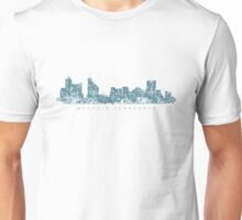 Memphis, Tennessee Skyline Vintage Blue Unisex T-Shirt