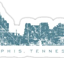 Memphis, Tennessee Skyline Vintage Blue Sticker