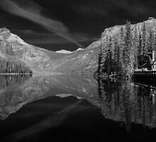 Infrared Emerald Lake by Andrew Dickman