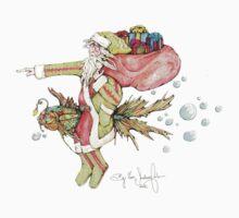 Santa And The Christmas Fish Baby Tee