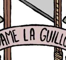 french revolution sticker set- guillotine (fancy version) Sticker