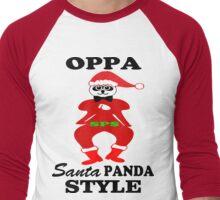 ★ټOppa Santa-Panda Style Hilarious Clothing & Stickersټ★ Men's Baseball ¾ T-Shirt