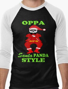 ★ټOppa Santa-Panda Style Hilarious Clothing & Stickersټ★ Men's Baseball ¾ T-Shirt