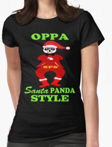 ★ټOppa Santa-Panda Style Hilarious Clothing & Stickersټ★ Womens Fitted T-Shirt