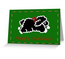 Black lamb Christmas card Greeting Card