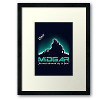 Visit Midgar Framed Print