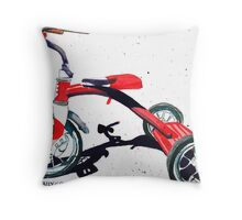 Radio Flyer Tricycle Throw Pillow