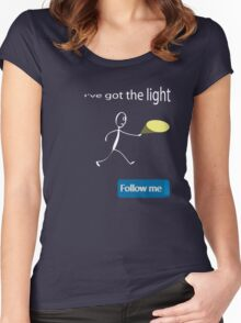 Light Women's Fitted Scoop T-Shirt