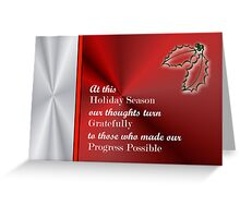 Christmas card for customers from business - holly mistletoe Greeting Card
