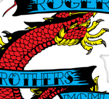 usa warriors dragon by rogers bros Sticker